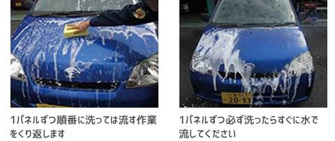 シャンプー洗車の正しい洗い方7・8