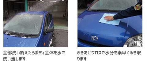 シャンプー洗車の正しい洗い方13・14